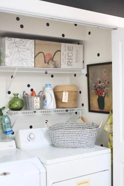 small laundry closet makeover, Rice Design