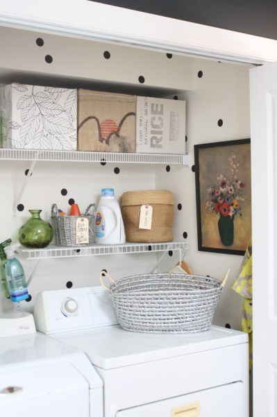 small laundry closet makeover, Rice Design