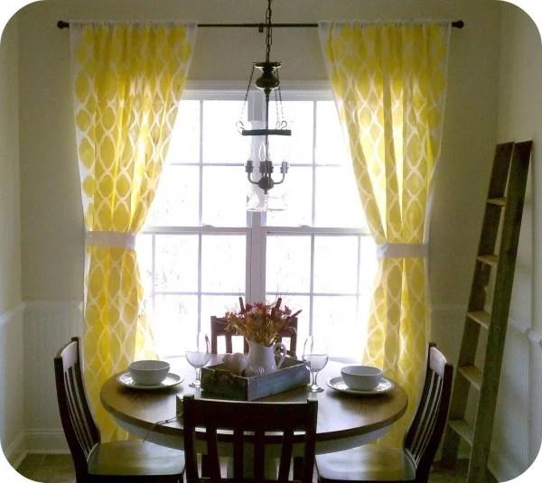 stenciled window drapes, Twenty Something on Remodelaholic