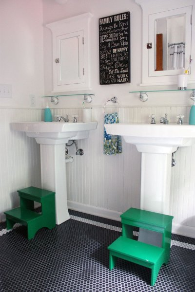 twin vanity bathroom, Apartment Therapy