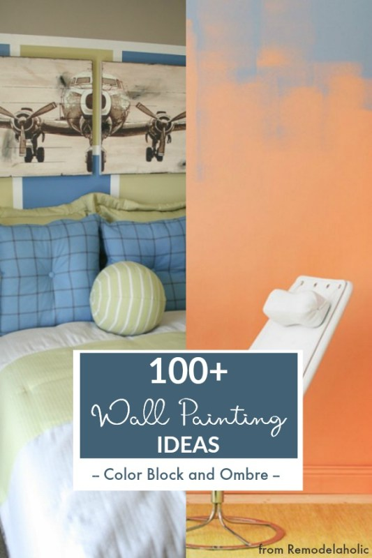 Wall Painting Ideas, Color Block, Ombre, @Remodelaholic