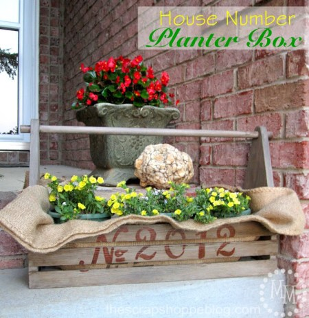welcoming house number planter box, The Scrap Shoppe