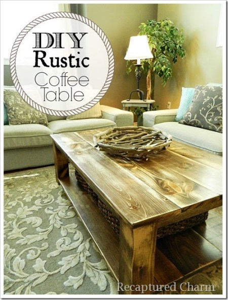 8-16 rustic coffee table, Recaptured Charm