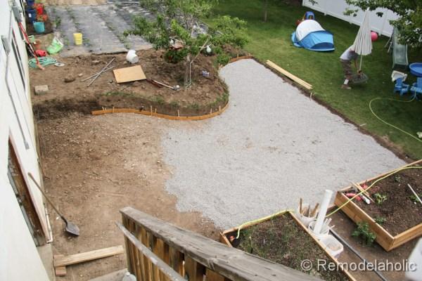 Remodelaholic Diy Concrete Patio Part One