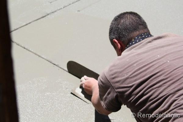 DIY concrete patio part two-12-2