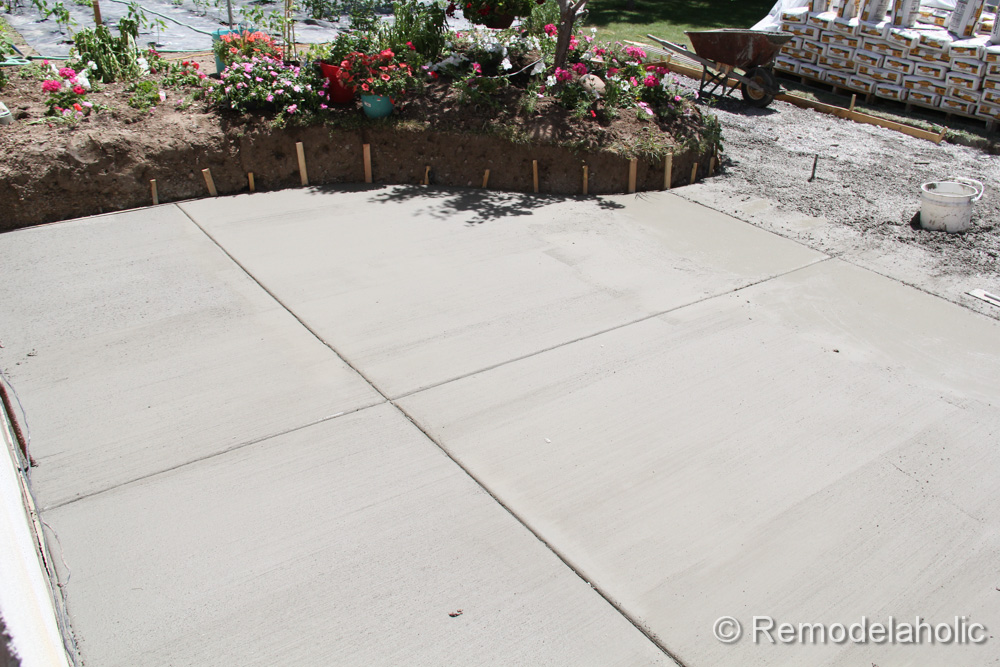 DIY Concrete Patio Part Two 13 2