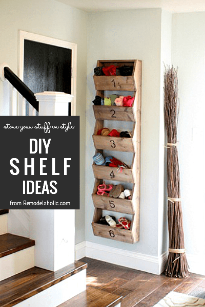 DIY Shelving Ideas From Remodelaholic