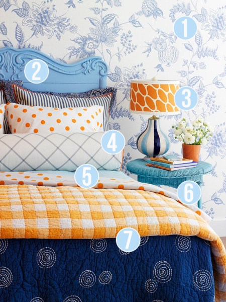 Get This Look - Pattern Mixing in Kids' Rooms - 7 tips from Remodelaholic
