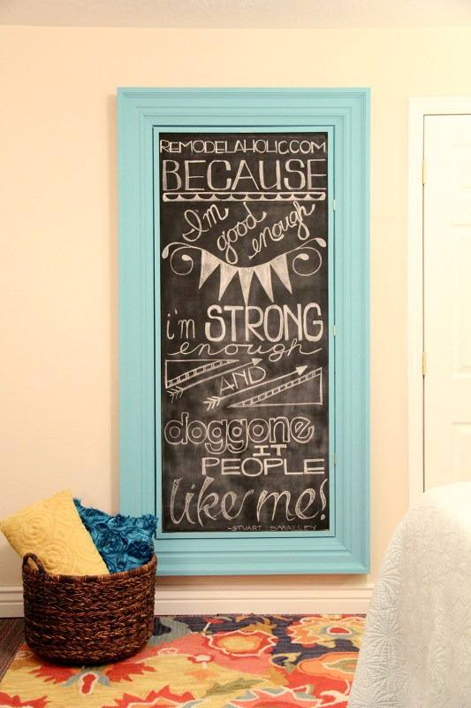 Remodelaholic | Build a Large Wall Frame for a Chalkboard or Mirror