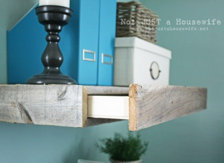 Not Just a Housewife, floating shelf with drawer