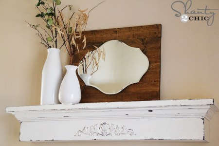 Shanty 2 Chic, floating mantel ledge shelf
