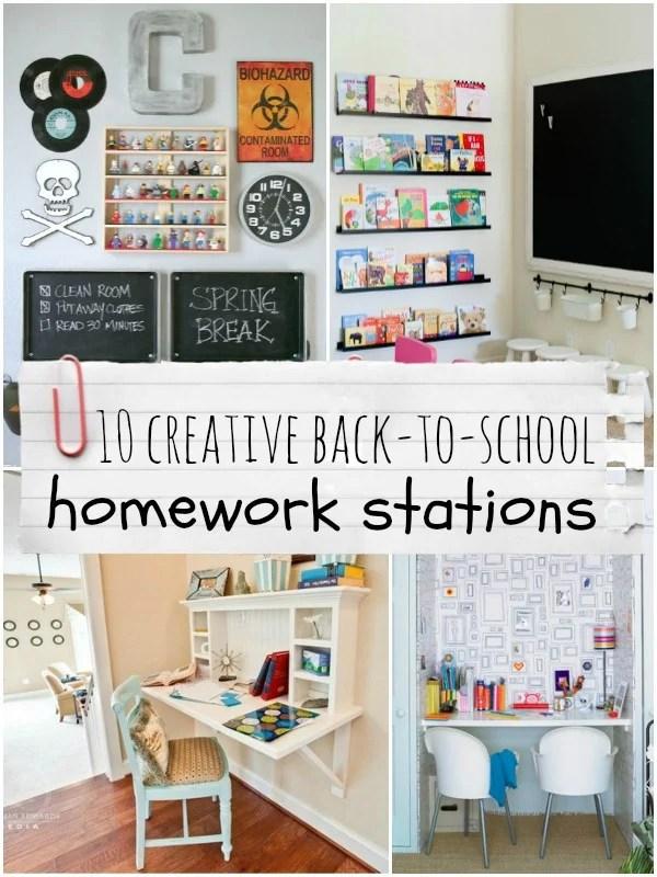 Top Ten Creative Homework Station Ideas | Remodelaholic