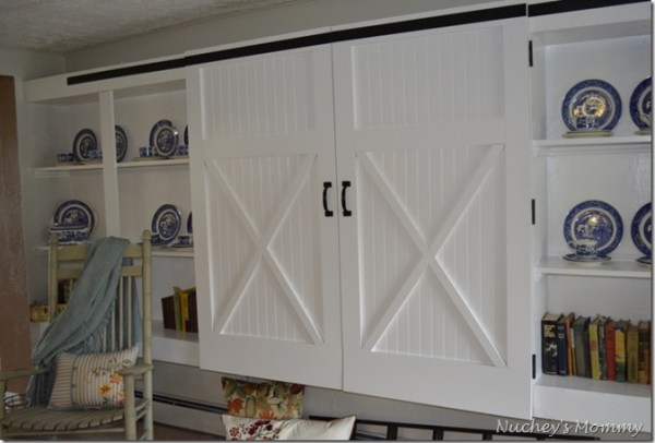 barn door inspired closet doors, Four Generations One Roof