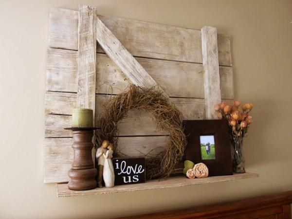 barn door shelf, Lovely Little Snippets