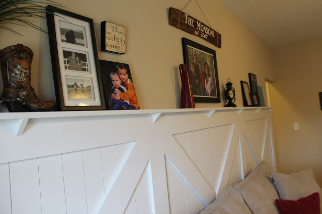 barn door wainscoting with chair rail ledge & Barn Door Wainscoting Tutorial | Remodelaholic