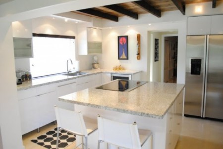 best kitchen remodel ideas -- kitchen renovation with open floor plan and exposed ceiling beams, JandJ Home on Remodelaholic