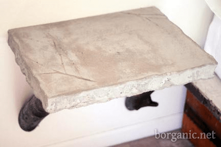 build a concrete side table, borganic