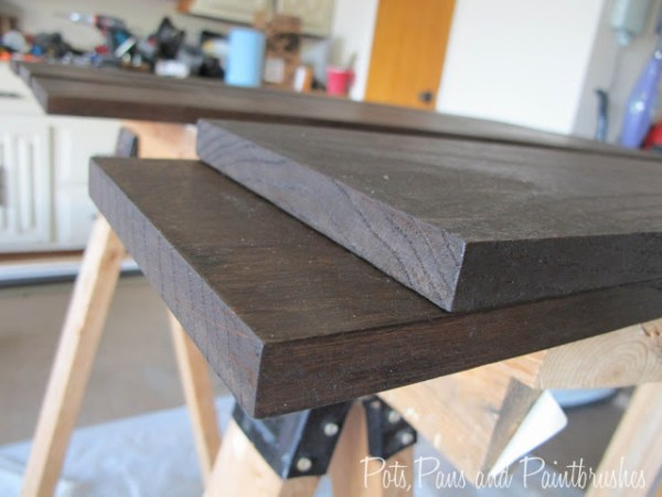 building the floating mantel shelf