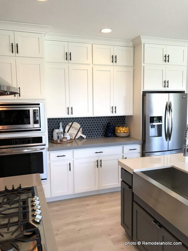 Grey Tile White Kitchen Cabinetry And Design Ideas, UVPH 2018 Home 11 Concord Homes, Tailored Interior Design (73)