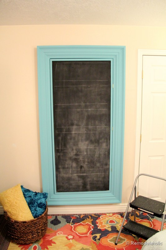 how to build a large chunky frame for a chalkboard-51