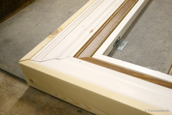 how to build a large chunky frame for a chalkboard-6 (2)