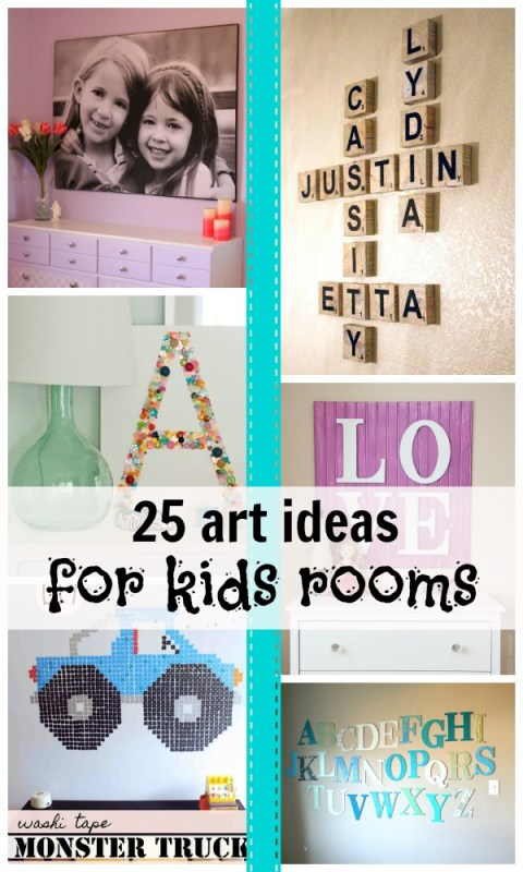 25 Ideas for Kids' Room Art | Remodelaholic.com #kidsroom #decorate #art #diy @Remodelaholic