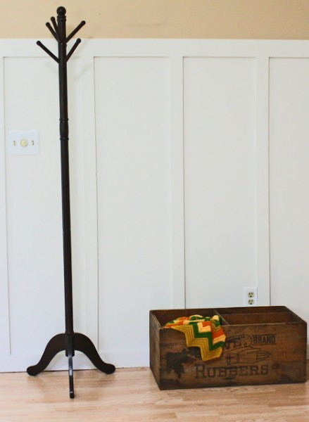 living room with tall board and batten wainscoting, Superwoman on Remodelaholic