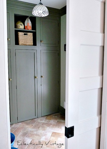 mudroom with storage, Eclectically Vintage