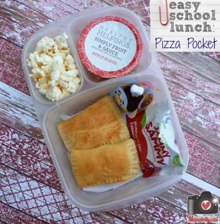 school lunch idea - mini pizza pockets, Mama Belly