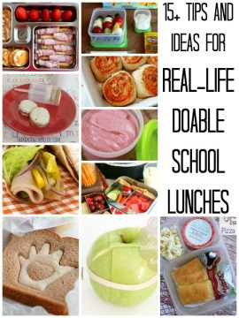 school lunch ideas and tips title