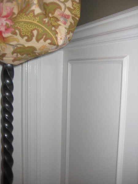 simple faux picture frame wainscoting, Willow Wisp Cottage on Remodelaholic