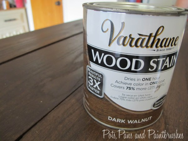 staining a wooden floating mantel shelf