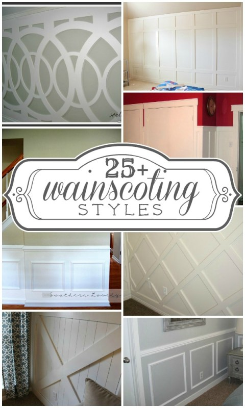 25+ wainscoting ideas and styles | Remodelaholic.com #wainscoting #inspiration #design #walls @Remodelaholic