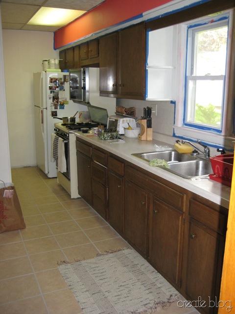white kitchen in progress