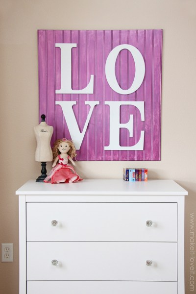wooden love sign, Make It and Love It