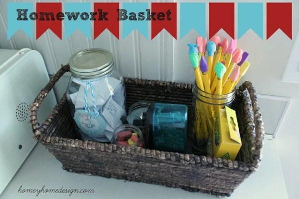 9-6 homework basket, Homey Home Design