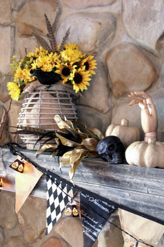 Fall Mantel Ideas Halloween mantel ideas