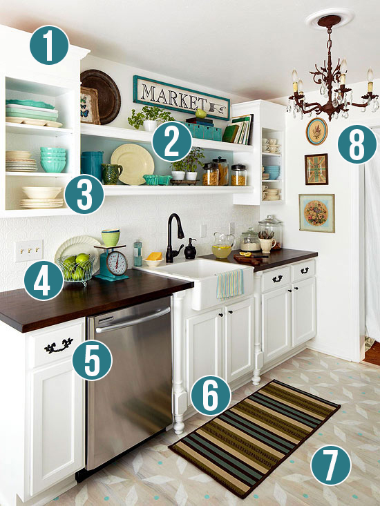 Get This Look: Luxury and Style in a Small Kitchen | Remodelaholic.com #getthislook #smallkitchen #decorating #tips @Remodelaholic