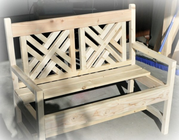 Red Hen Home build a bench unfinished
