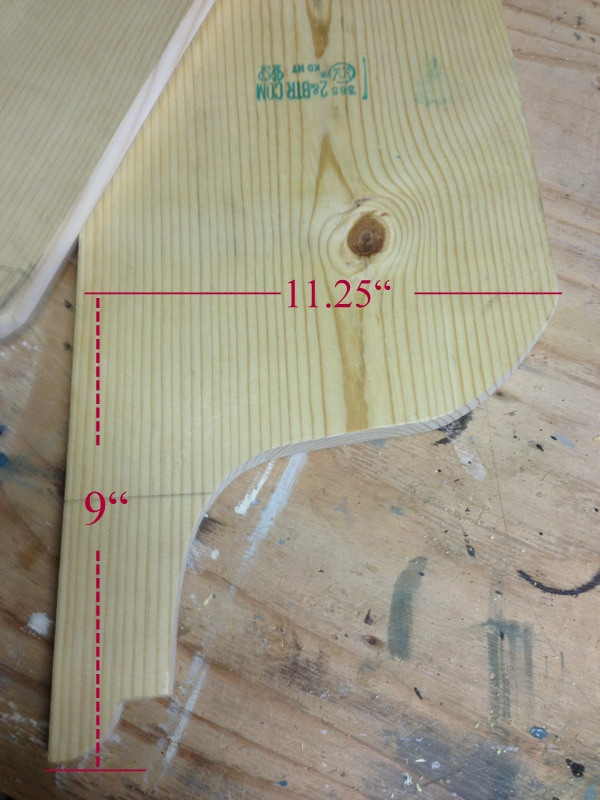 cutting the decorative sides of the plate rack cabinet