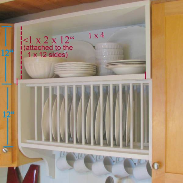 dimensions of plate rack cabinet diy