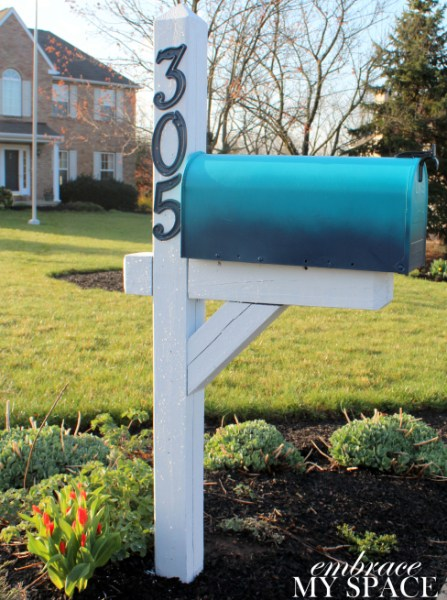 diy ombre mailbox, Embrace My Space