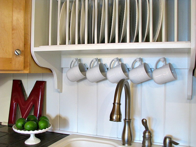 building a custom plate rack shelf