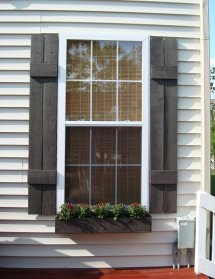 Exterior Shutters with Window Boxes