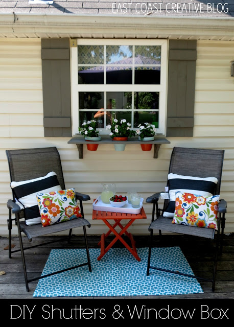 exterior shutters - tutorial for shutters and window box, East Coast Creative
