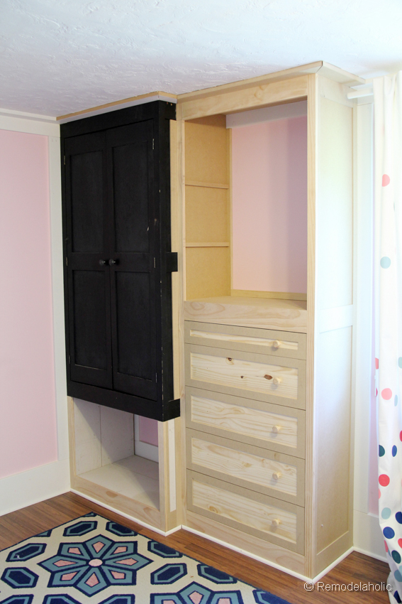 Built In Closet Part - 27: How To Build A Built-in Closet, Built-ins From Existing Furniture Upcycl ...