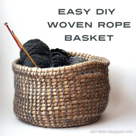 party feature - DIY woven rope basket, Ceci Bean