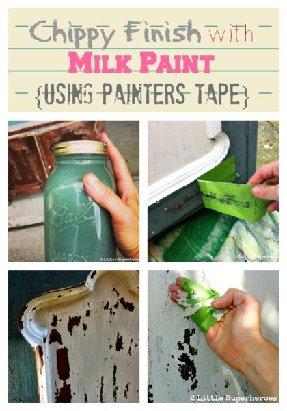 how to get a chippy finish with frog tape, 2 Little Superheroes