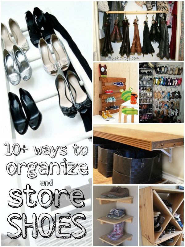 shoe storage and organization ideas via Remodelaholic