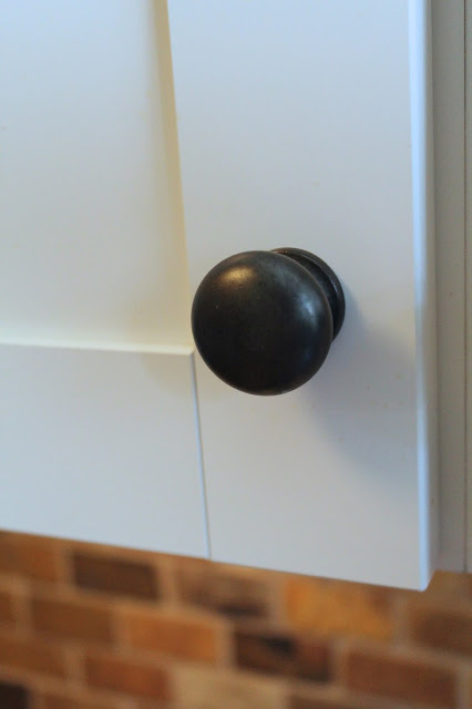 small kitchen remodel, Restoration Hardware knobs